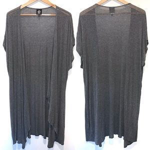 Bobeau Long Cardigan Open Front Duster